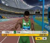 Athens 2004 PlayStation 2 Competing in the games at men's 400m<br>The game has made this a night time event and does the usual TV thing of filming all the athletes on the starting line