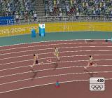 Athens 2004 PlayStation 2 Competing in the games at men's 400m<br>A good start and we're third as we hit the first bend