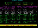 Gobbleman ZX Spectrum Instructions.