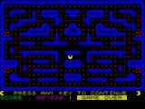 Gobbleman ZX Spectrum Game Over.