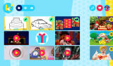 Ketnet Junior Android The starting screen with a selection of the content