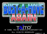 Bust-A-Move Again Arcade Title screen for the US version (Taito F3 system)