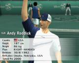 Smash Court Tennis: Pro Tournament 2 PlayStation 2 Arcade mode: This screen, or something similar, is shown at the start of all matches a the players come on to the court