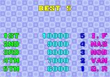 Bust-A-Move Arcade Top 5 scores (Taito B System version)