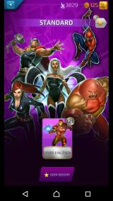 Marvel Puzzle Quest Android New powers are found like tradings cards.