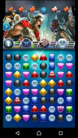 "Marvel Puzzle Quest Android There are also ""normal"" enemies, which will not match the gems."