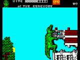The Muncher ZX Spectrum Cinematic frame 2 - KABBOOSH!! (earth's trembling + furious Roar echoing to Andromeda)