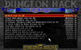 Dungeon Hack DOS The Hall of Fame keeps track of how far various adventurers have progressed before being slaughtered.  Some people just don't like to save it seems.