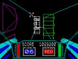 3D Starstrike ZX Spectrum ... mines on lateral walls.