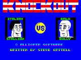KnockOut! ZX Spectrum (A match against <i>Nosferatu</i>. The other player also has anaemia... for sure. Spinaches is good.)