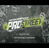Need for Speed: ProStreet PlayStation 2 The game's title screen