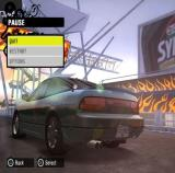 Need for Speed: ProStreet PlayStation 2 The in-game pause menu<br>While paused the camera moves slowly around the car
