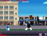 Bravoman Arcade First boss fight is against Black Bravo (evil twin of the game's eponymous main character)