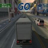 The Italian Job PlayStation 2 Circuit Racing: All races are run around the streets of the city and start after a quick flu-by and a 3-1-2-Go!.<br>Here the player is racing in a truck, other vehicles are available