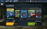 Need for Speed: No Limits Android Shopping for new cars and parts (Dutch version).