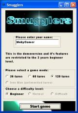 Smugglers Windows Starting a new game. You can decide how long it will last and how difficult it will be (however, difficulty is disabled in the demo)