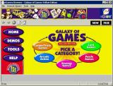 Galaxy of Games: Yellow Edition Windows The main menu<br>It looks alright here but it does not adapt to a larger screen well, and it needs a larger screen to list the games
