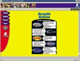 Galaxy of Games: Yellow Edition Windows The Arcade Action games menu
