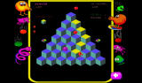 Q*bert: Rebooted Android Chased by balls (Classic mode).