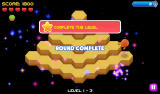Q*bert: Rebooted Android Level complete (Rebooted mode)