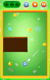 Pac-Man Bounce Android Rotate the arrow to change the path following a diagonal line.