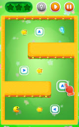 Pac-Man Bounce Android In this level you cannot rotate the blocks, but you can move them around.
