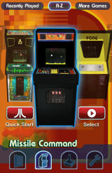 Atari's Greatest Hits Android Swipe to switch between the arcade cabinets.