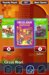 Atari's Greatest Hits Android Browsing the covers of the Atari 2600 library.