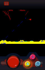 Atari's Greatest Hits Android <i>Missile Command</i>: a plane passes.