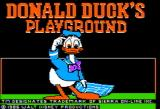 Donald Duck's Playground Apple II Title screen