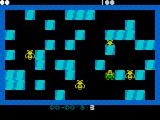 Do-Do ZX Spectrum Jelly bug against a block of ice. Dodo has just begun the process of generating a fossil.