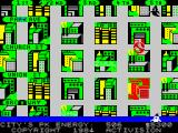 "Ghostbusters ZX Spectrum The house in red means it's infested with a ""Slimer"". (48K)"