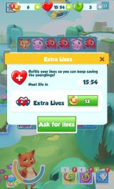 Puzzle Pets Android Out of lives