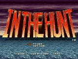 In the Hunt PlayStation Title screen