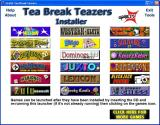 Tea-Break Teazers Windows Menu 1: The 'About' link in the top left tries to connect to Greenstreet's web site which is no longer functioning