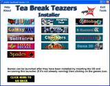 Tea-Break Teazers Windows Menu 3: many of these games are included in the 'Zillions of Games' compilation