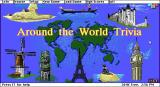 Around the World Trivia DOS The title screen. This is not displayed until the nag screen has been removed