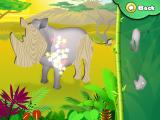 Animal Puzzle: Drag 'n' Drop iPad Rhinoceros puzzle pieces