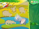 Animal Puzzle: Drag 'n' Drop iPad Jungle animal tiles on the pond
