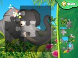 Animal Puzzle: Drag 'n' Drop iPad The elephant, 3x3 jigsaw puzzle