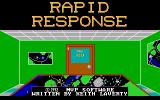 Rapid Response DOS The title screen