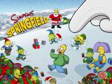 The Simpsons: Tapped Out iPad Splash screen Christmas 2014 Event