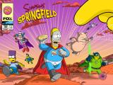 The Simpsons: Tapped Out iPad Splash screen Superheroes 2015 Event