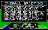 Rapid Response DOS There are many, many screens of information on the keyboard commands, unit strengths and designation etc. This is the first screen of the overall briefing, a kind of explanation of the game
