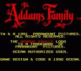 The Addams Family SNES Japanese Title Screen