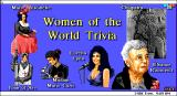 Women of the World Trivia DOS The title screen, all the options that tun the quiz are in the menu bar at the top
