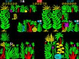Sabre Wulf ZX Spectrum Got paralysed by the yellow flowe... I was just informed they are orchids. This type blow ever destructible enemy around and temporarily paralyse Sabreman.