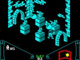 Knight Lore ZX Spectrum Four silly gargoyles are mocking with Sabreman's funny walking.
