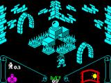 Knight Lore ZX Spectrum Don't let master <i>Escher</i> tricks you. Take a better look at the isometric illusion. I mean, this scenario played on a real Spectrum would be reason enough for flying computers.