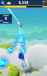 Sonic Dash 2: Sonic Boom Android The new flight sections where you control the character by tilting the device.
